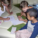 working with children at Humboldt-University in Berlin